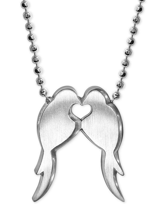 Alex Woo - Lovebirds Pendant Necklace in Sterling Silver