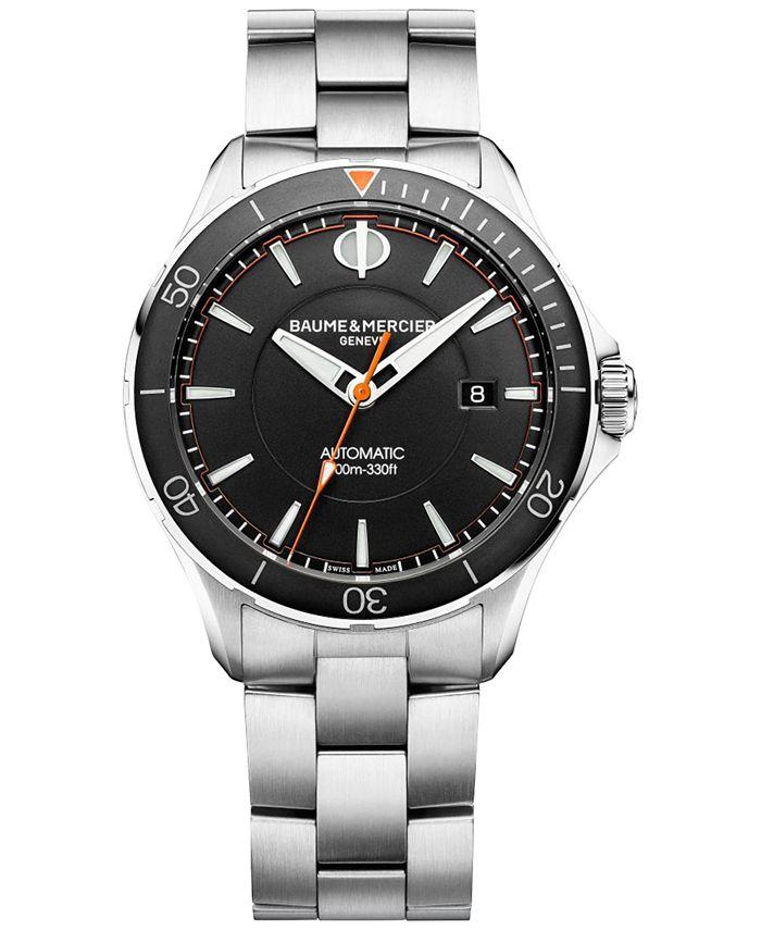 Baume & Mercier - Men's Swiss Automatic Clifton Club Stainless Steel Bracelet Watch 42mm M0A10340