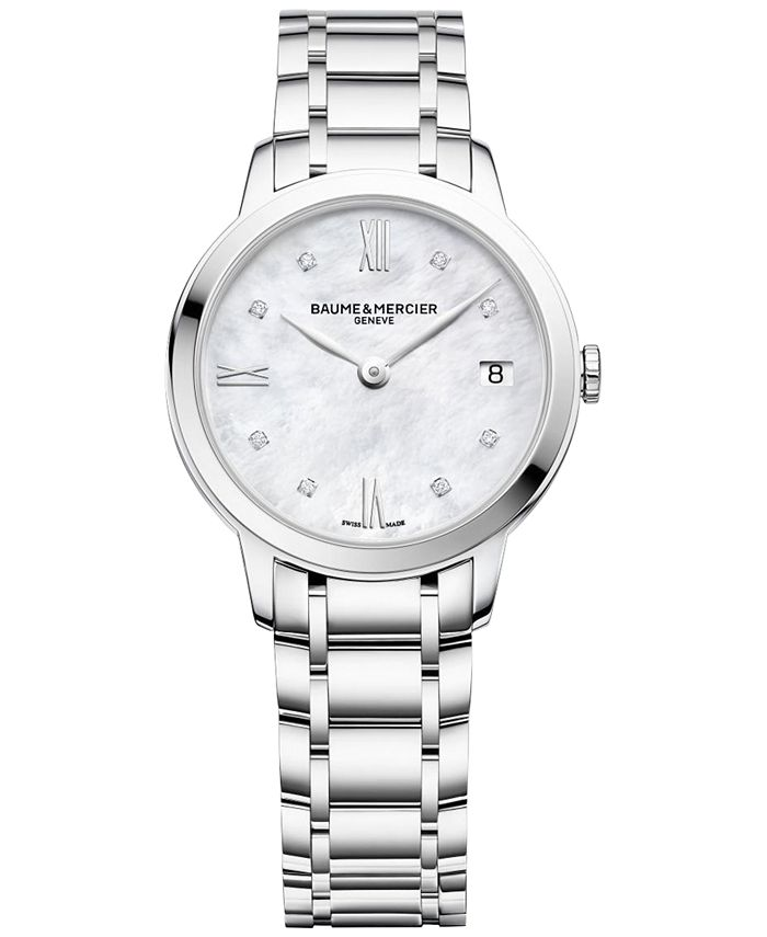 Baume & Mercier - Women's Swiss Classima Diamond Accent Stainless Steel Bracelet Watch 31mm M0A10326