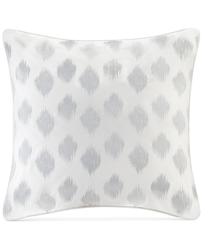 INK+IVY - Nadia Cotton Embroidered Ikat Dot European Sham