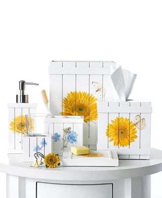 Blonder bath accessories sweet sunflowers collection