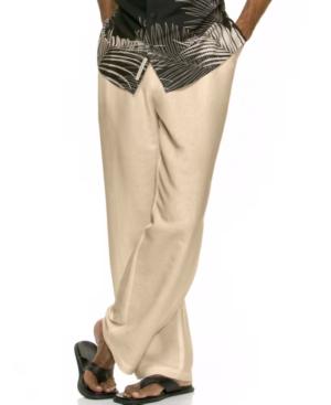 Cubavera Pants, Big and Tall Linen Drawstring Pants