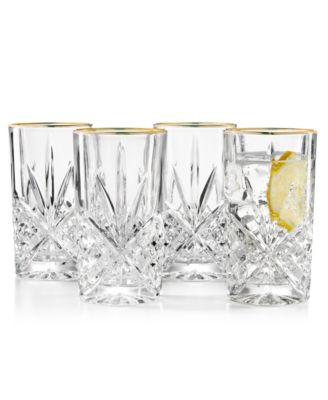 Dublin Gold Highball Glasses, Set of 4