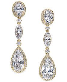Eliot Danori Oval Crystal Drop Earrings, Created for Macy's