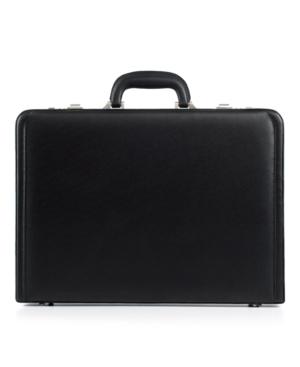 Delsey Leather Attaché, Helium Expandable Briefcase