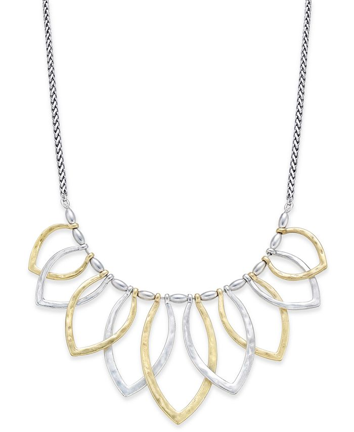 Lucky Brand - Two-Tone Petal Statement Necklace