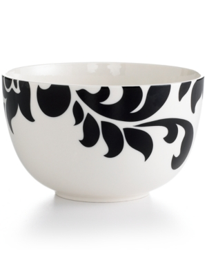 Martha Stewart Collection Dinnerware, Lisbon Black Cereal Bowl