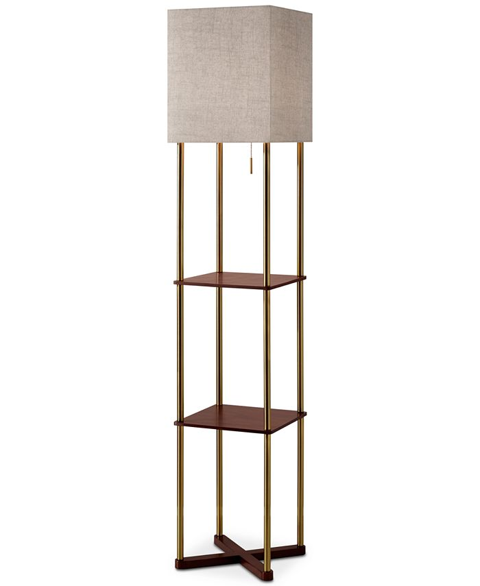 Adesso - Harrison Shelf Floor Lamp
