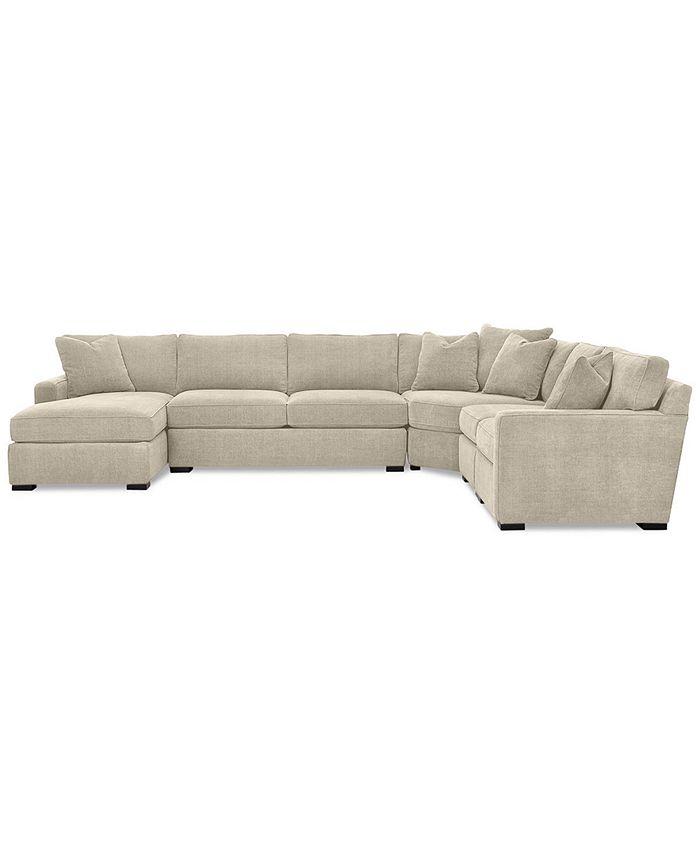 Furniture - Radley 5-Piece Fabric Modular Sectional Sofa