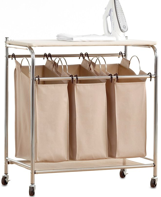 Neatfreak Hampers, EVERFRESH® Laundry Triple Sorter with Ironing Board