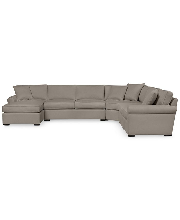 Furniture - Astra 6-Pc. Sectional Sofa with Chaise- Custom Colors, Only at Macy's