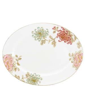Marchesa by Lenox Dinnerware, Painted Camellia Oval Platter