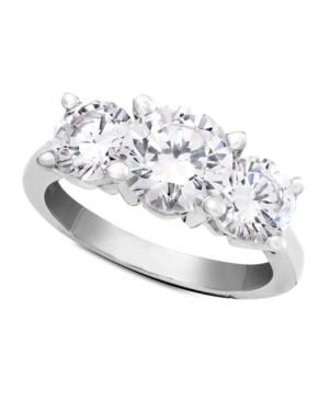 Diamond Ring, 18k White Gold Three Stone Diamond Solitaire (3 ct. t.w.)