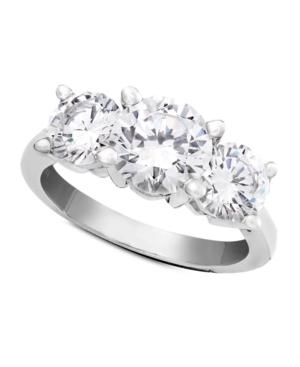 Diamond Ring, 18k White Gold Three Stone Diamond Solitaire (3 ct. t.w.)
