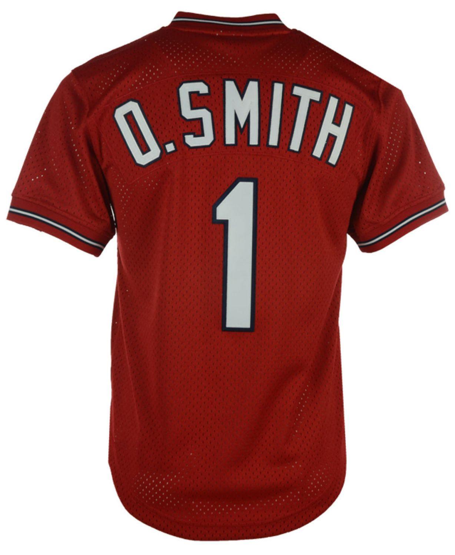 Mitchell & Ness Men's Ozzie Smith St. Louis Cardinals Authentic Mesh Batting Practice V-Neck Jersey  & Reviews - Sports Fan Shop By Lids - Men - Macy's