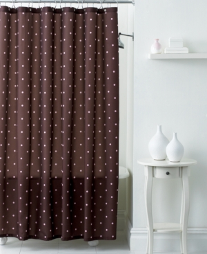 WaterShed Bath Accessories, Classic Polka Dot Shower Curtain