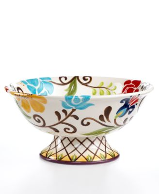 CLOSEOUT! Vida by Espana Jardine Footed Compote