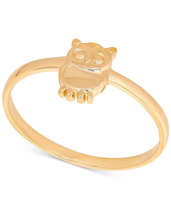 Macy's - Owl Statement Ring in 14k Gold