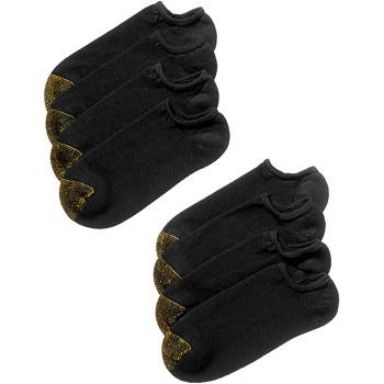 8-Pair Gold Toe Men's No-Show Socks (Size: 6-12) (Black)