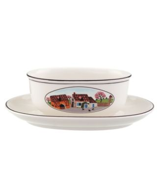 Villeroy & Boch Dinnerware, Design Naif Gravy Boat with Stand