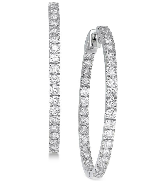 Macy's Diamond In and Out Earrings (5 ct. t.w.) in 14k White Gold