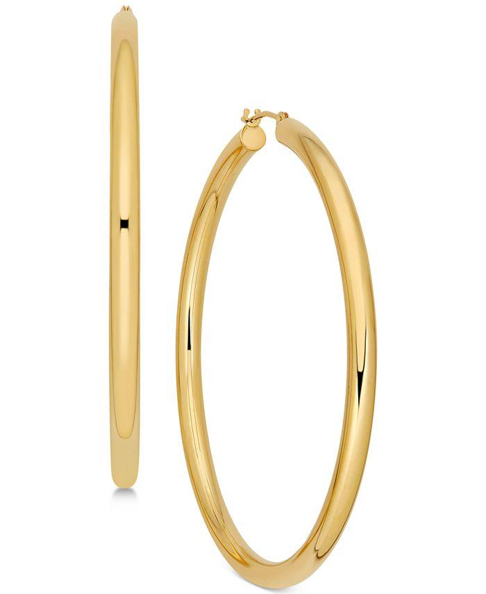 Macy's - Polished Thin Tube Hoop Earrings in 14k Gold