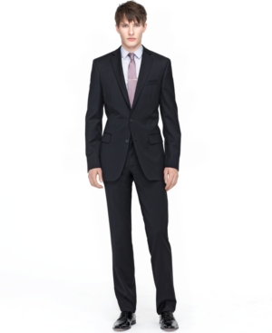 Bar Iii Suit Black Solid Slim Fit $ 595.00