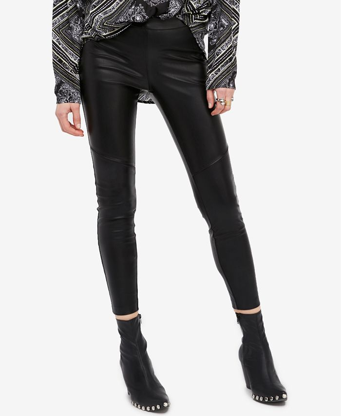 Free People - Faux-Leather Leggings