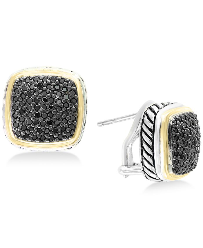 EFFY Collection - Diamond Two-Tone Stud Earrings (7/8 ct. t.w.) in Sterling Silver & 18k Gold