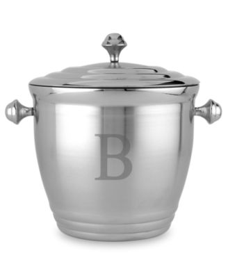 Tuscany Monogram Ice Bucket, Block Letters