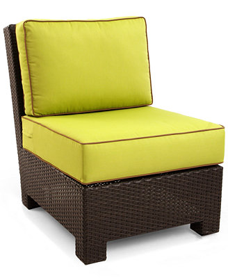 Riviera Wicker Patio Furniture, Outdoor Sectional Armless Chair ...