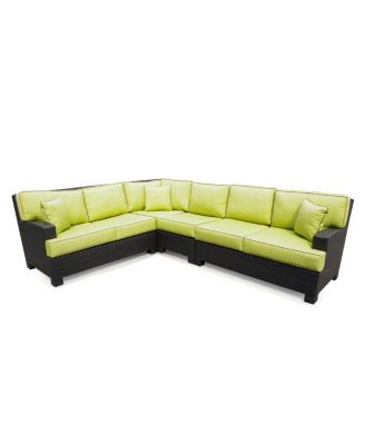 Riviera Outdoor Patio Furniture, 4 Piece Sectional Sofa (2 ...