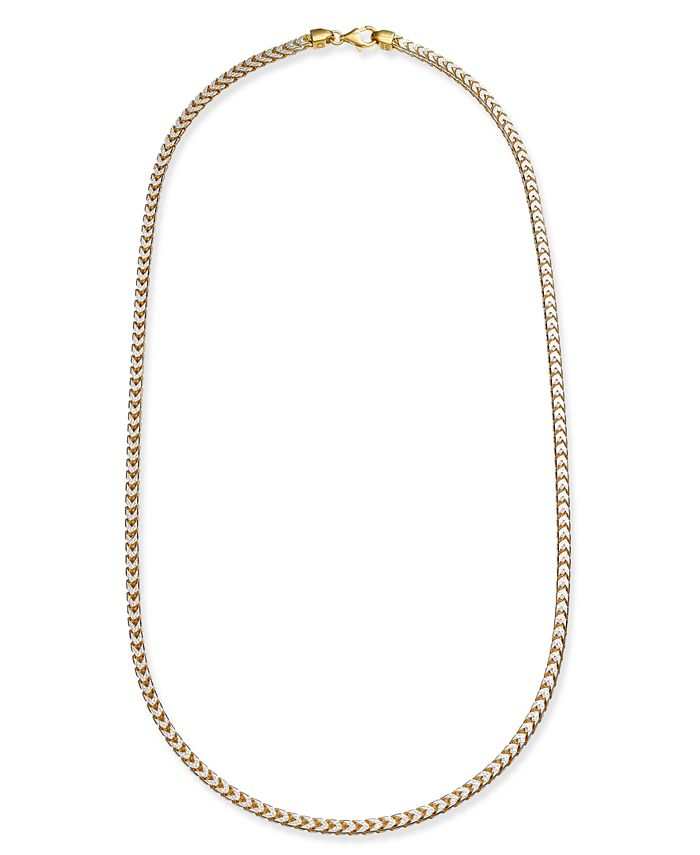Macy's - Two-Tone Franco Chain Necklace in Sterling Silver & 18k Gold-Plate