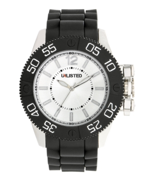 Unlisted Watch, Men's Black Polyurethane Strap UL1184
