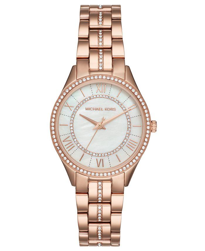 Michael Kors - Women's Lauryn Rose Gold-Tone Stainless Steel Bracelet Watch 33mm