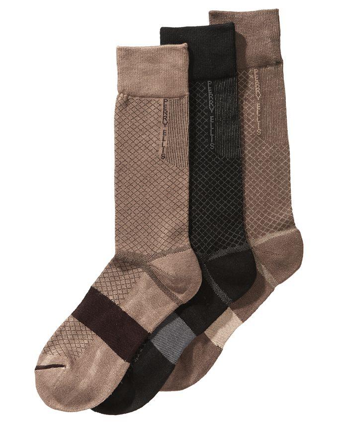 Perry Ellis Portfolio - Men's 3-Pk. C-Fit Performance Dress Socks