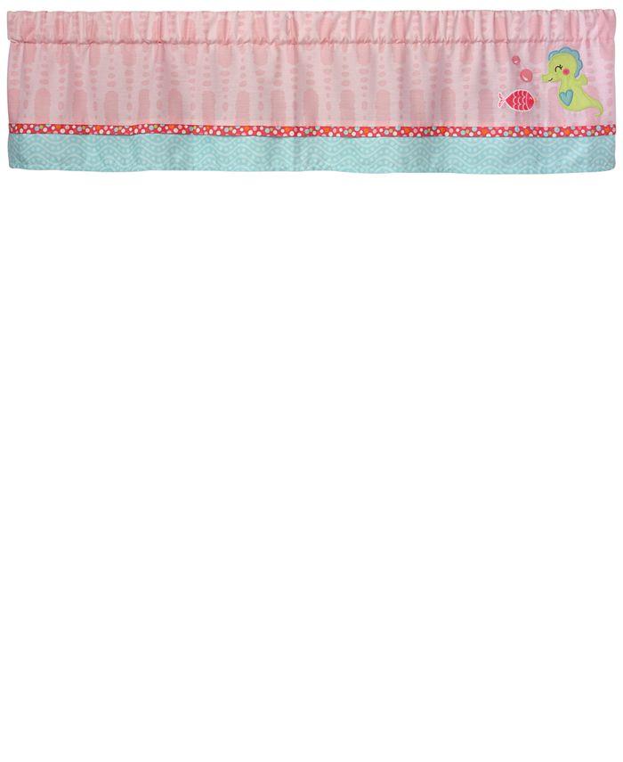 Carter's - Sea Colorblocked Geo-Print Embroidered Appliqué Window Valance