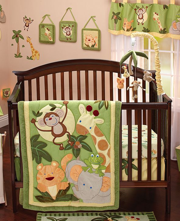 NoJo Jungle Babies 8-Pc. Crib Bedding Set