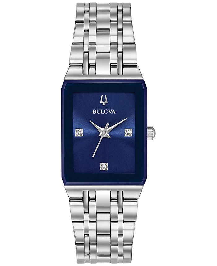Bulova - Women's Diamond-Accent Stainless Steel Bracelet Watch 21x32mm