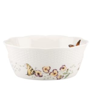 Lenox Dinnerware, Butterfly Meadow Basket Round Handled Basket