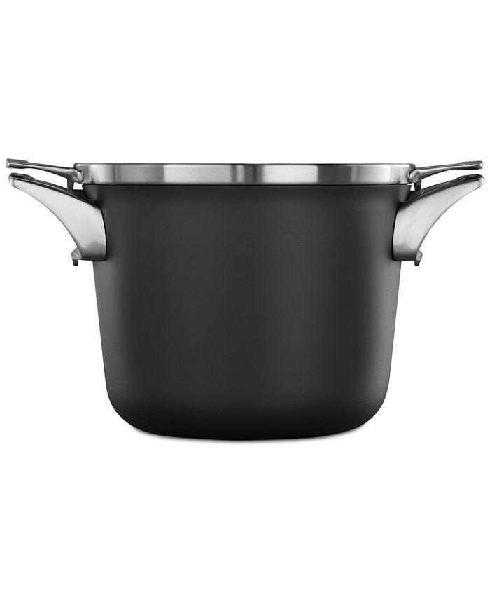 Calphalon - Premier Space-Saving Hard-Anodized Non-Stick 4.5-Qt. Soup Pot & Lid