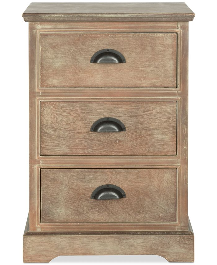 Safavieh - Griffin 3-Drawer Side Table, Quick Ship