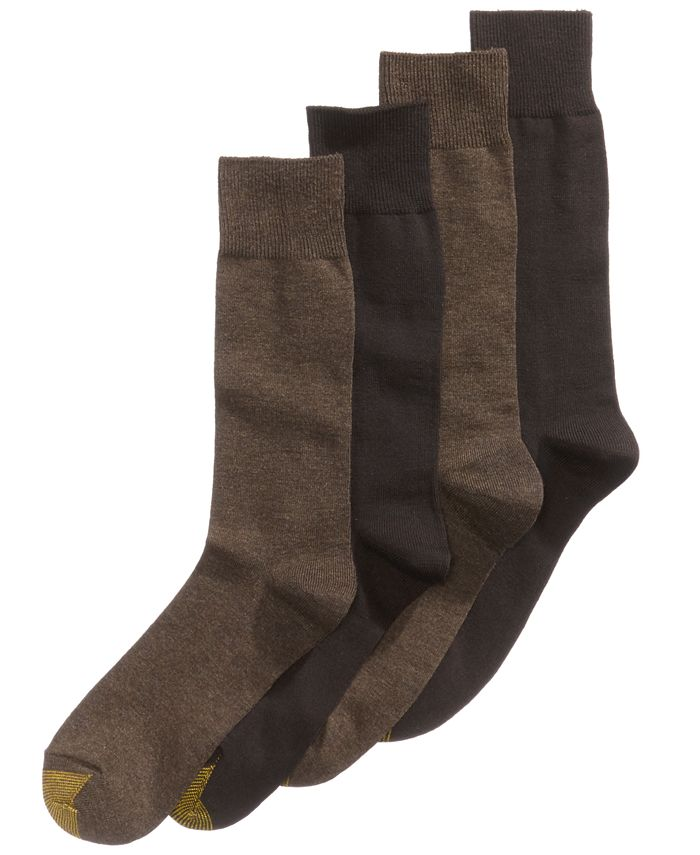 Gold Toe - Socks, Dress Flat Knit 4 Pack