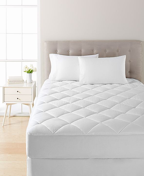 JLA Home Waterproof Twin Mattress Pad by Martha Stewart Collection, Created for Macy's