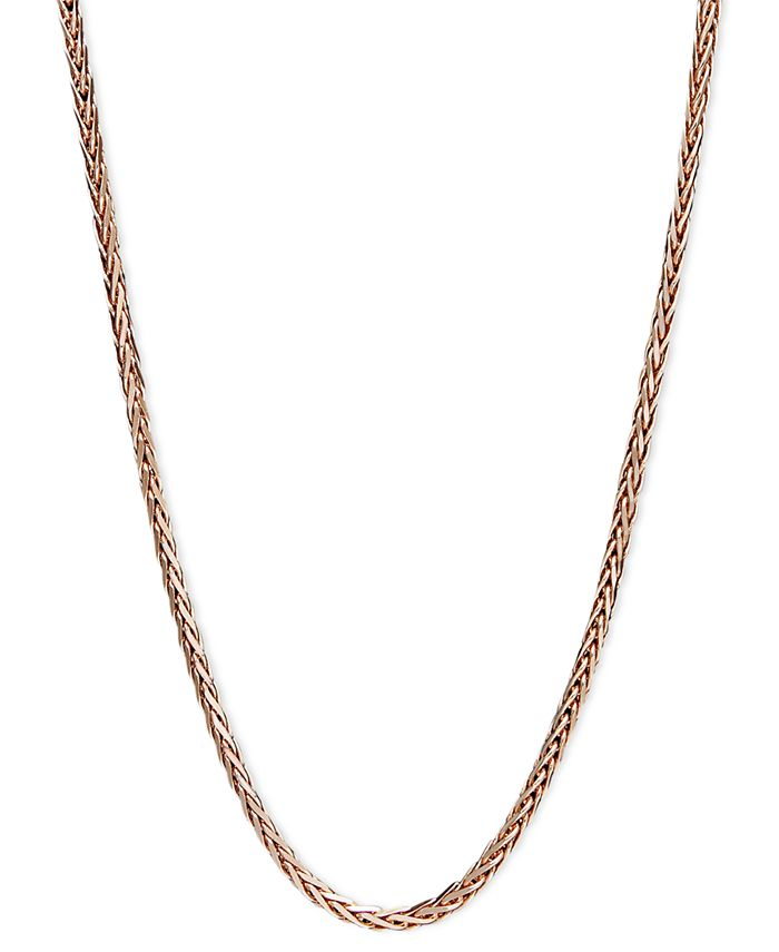 """Macy's - 14k Rose Gold Necklace, 20"""" Wheat Chain"""