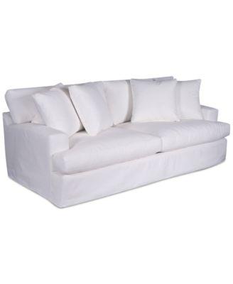 "Brenalee 93"" Performance Fabric Slipcover Sofa"