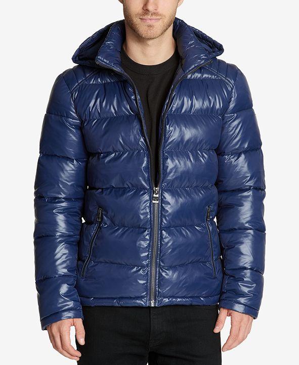 GUESS Men's Hooded Puffer Coat