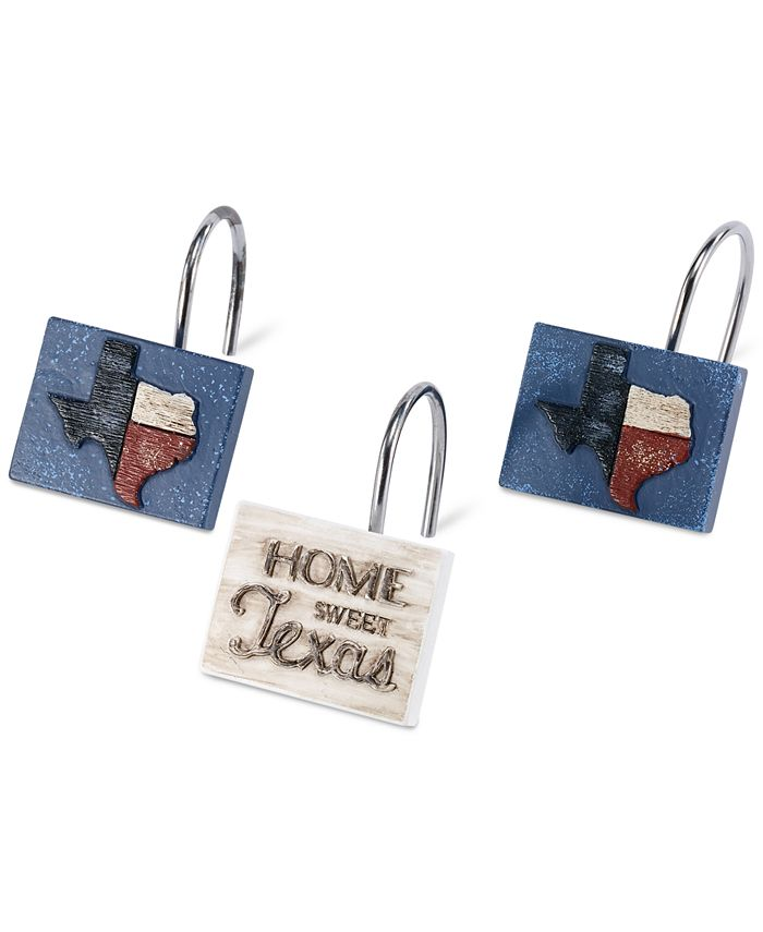Avanti - Home Sweet Texas 12-Pc. Shower Hook Set