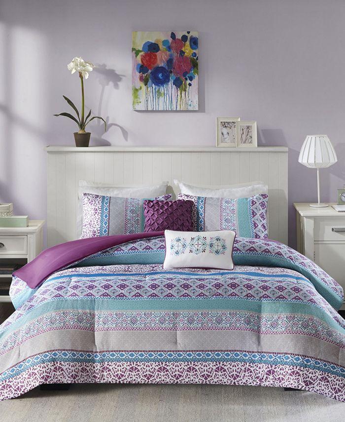 Intelligent Design - Joni 5-Pc. Reversible Full/Queen Comforter Set