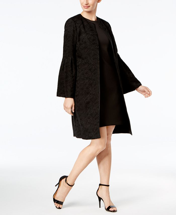 Calvin Klein - Bell-Sleeve Jacquard Topper Jacket